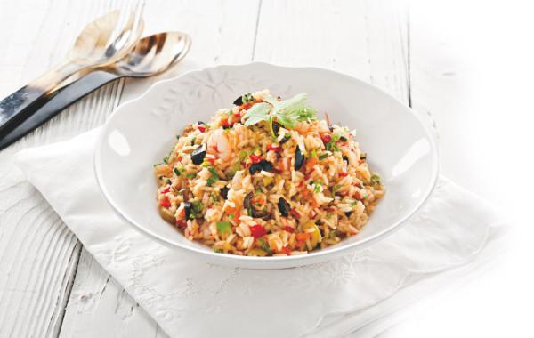 Smażony ryż z oliwkami