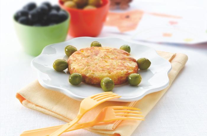 Ziemniaczana tortilla z oliwkami